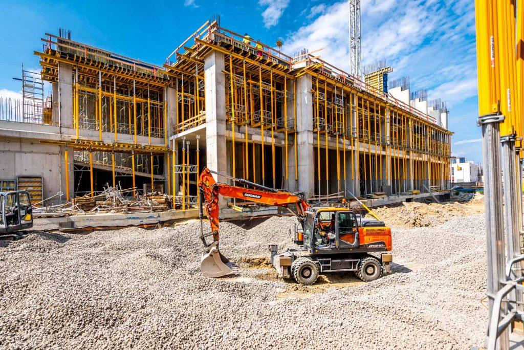 Etele Plaza Peri UP Flex és MULTIPROP teherhordó szerkezet